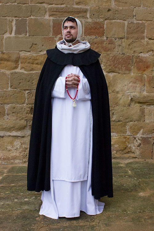 Monje medieval dominico
