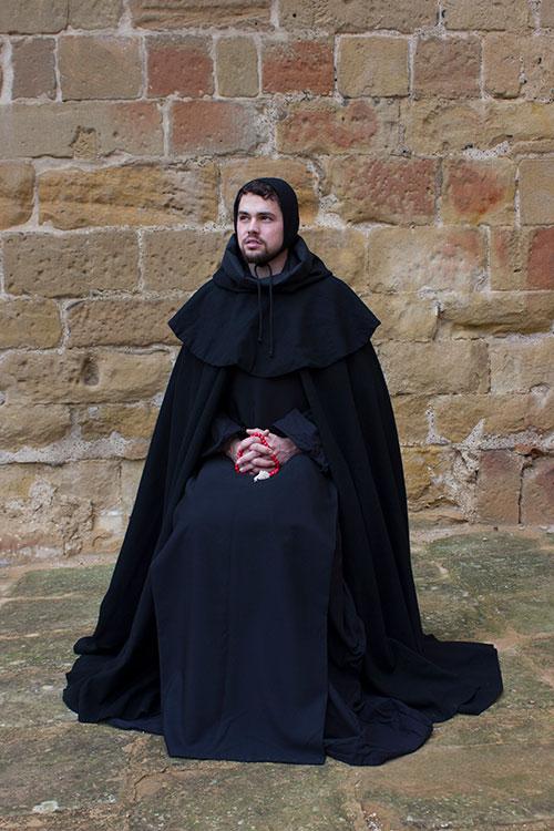 Monje benedictino medieval
