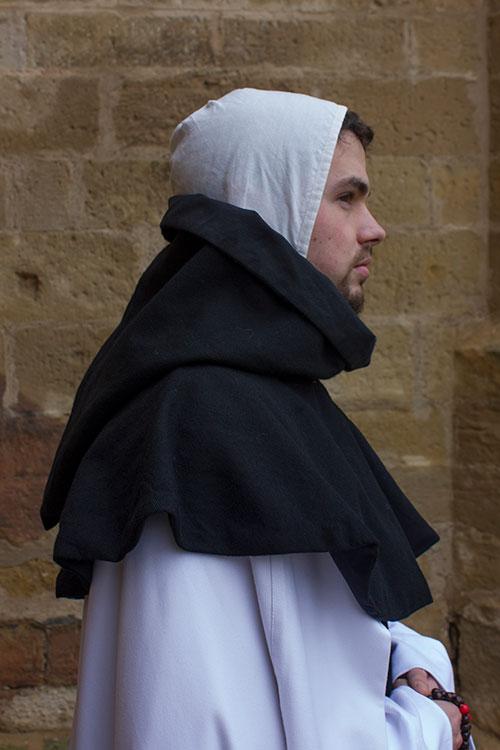 Monje cisterciense detalle