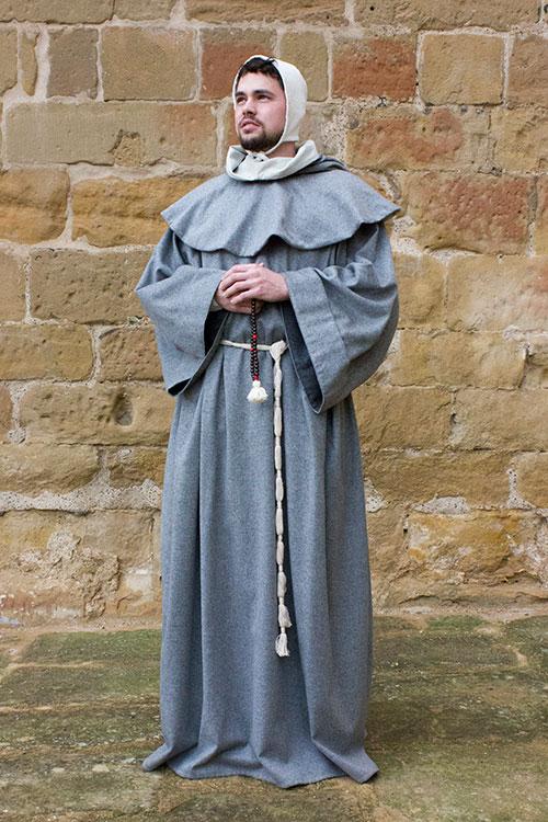 Traje medieval de monje converso
