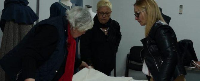 Varias integrantes del Taller de Indumentaria Histórica de Fraga